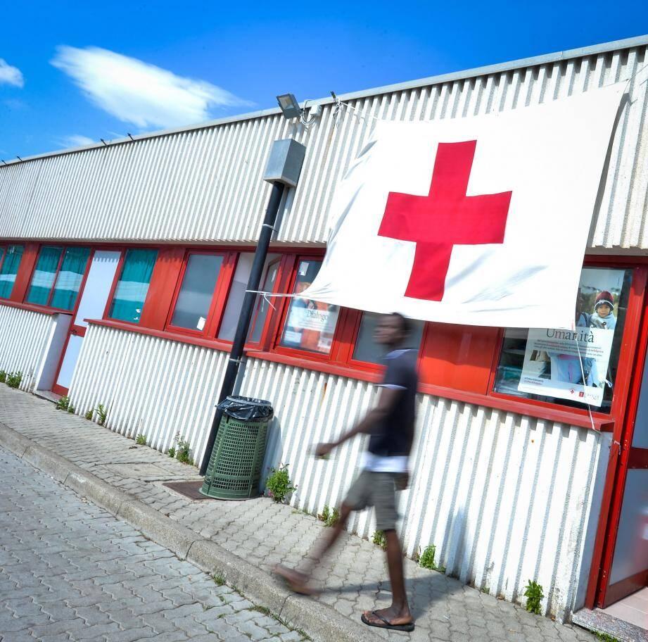Le camp de la Croix-Rouge à Vintimille, ici en 2016.