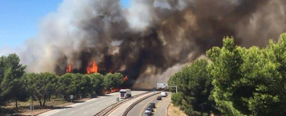 La circulation est à nouveau coupée sur l'autoroute A55. Le viaduc de Martigues est fermé dans le sens Martigues-Marseille.