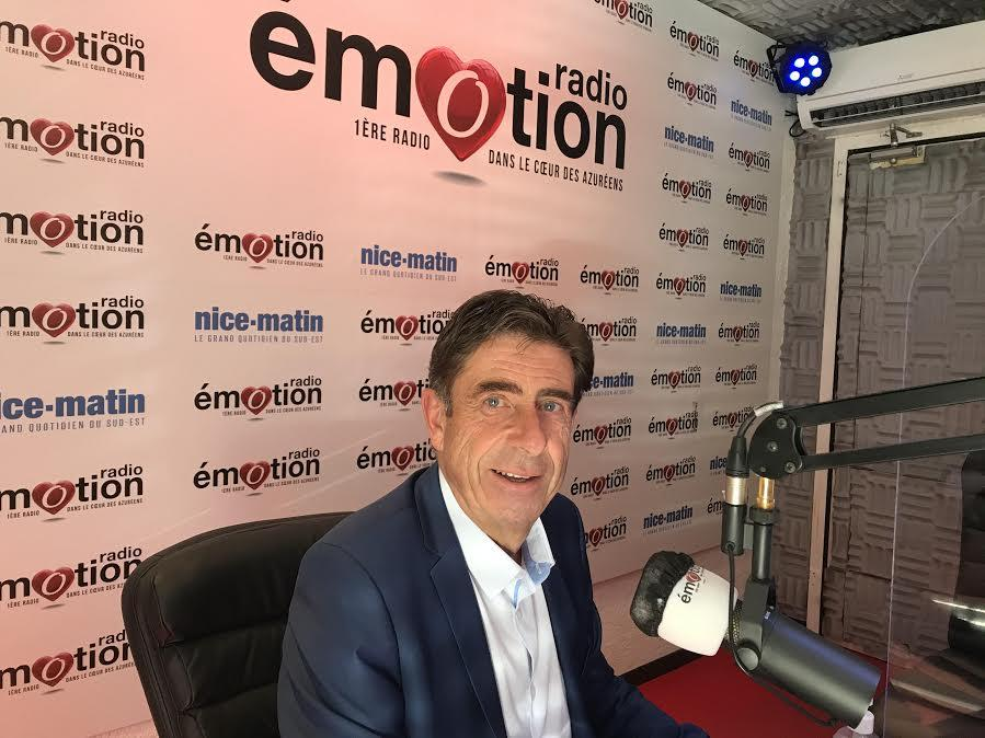 Charles-Ange Ginésy au micro de Radio Emotion, en partenariat avec Nice-Matin.