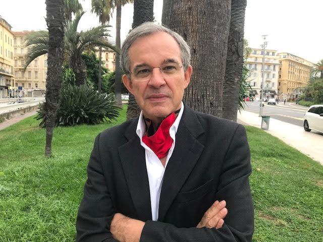 Thierry Mariani, député européen RN, ce mardi matin à Nice.