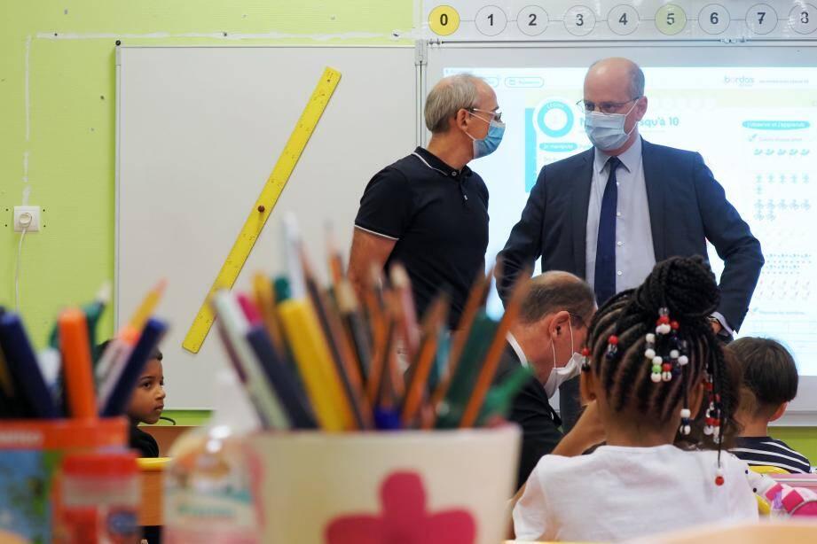 Jean-Michel Blanquer en visite dans une classe.