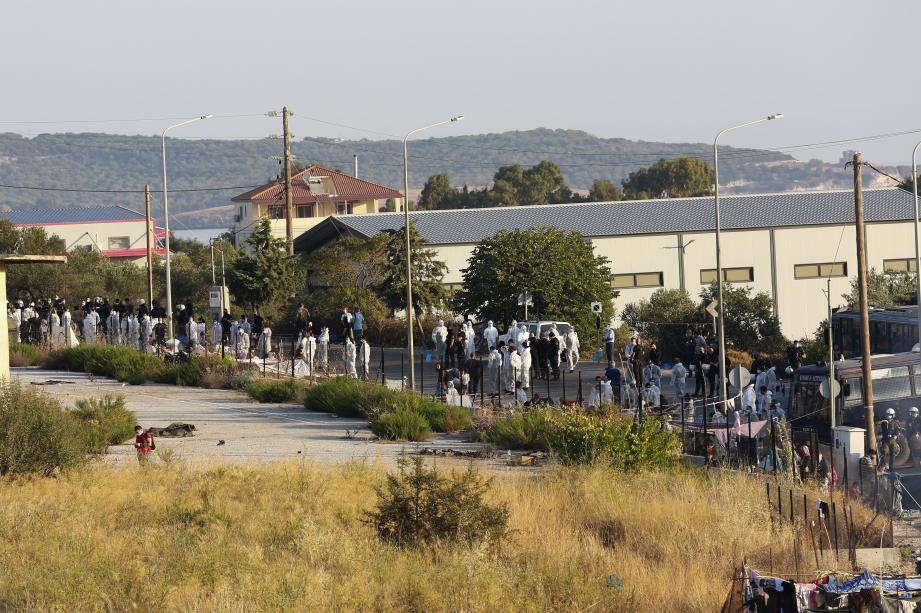 A Moria, près de 13.000 réfugiés vivaient dans des conditions dramatiques.