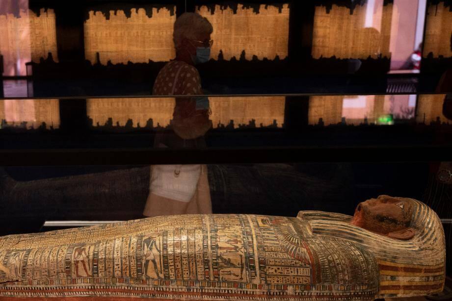 """L'exposition """"Pharaon, Osiris et la momie"""" est à visiter jusqu'en février 2021."""