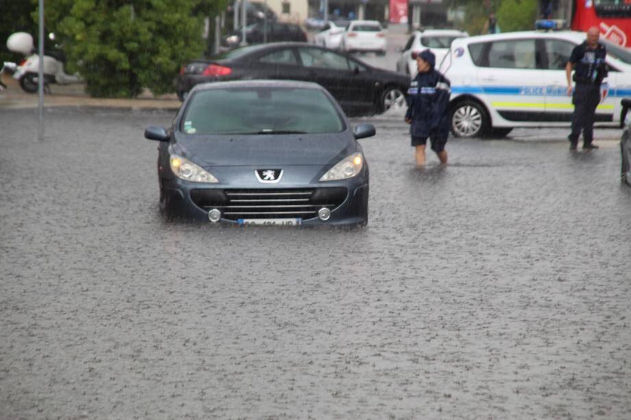 Les pluies ont été violentes sur Saint-Laurent-du-Var.