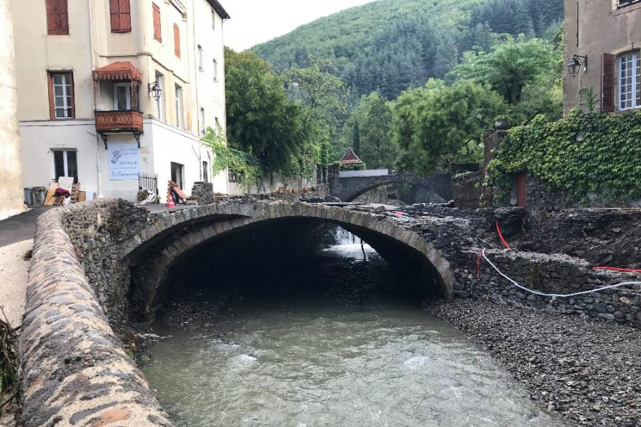 Un pont abîmé à Valleraugues le 20 septembre 2020