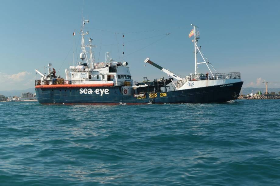 Le navire Alan Kurdi transportant des migrants, au large des côtes libyennes le 19 septembre 2020