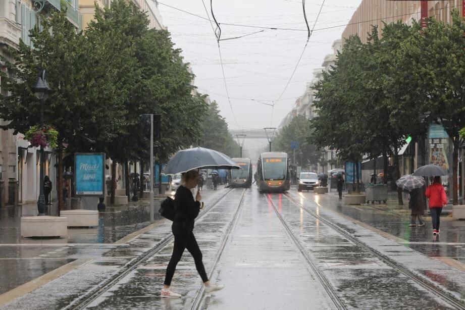 La pluie au menu de ce mardi sur la Côte d'Azur.