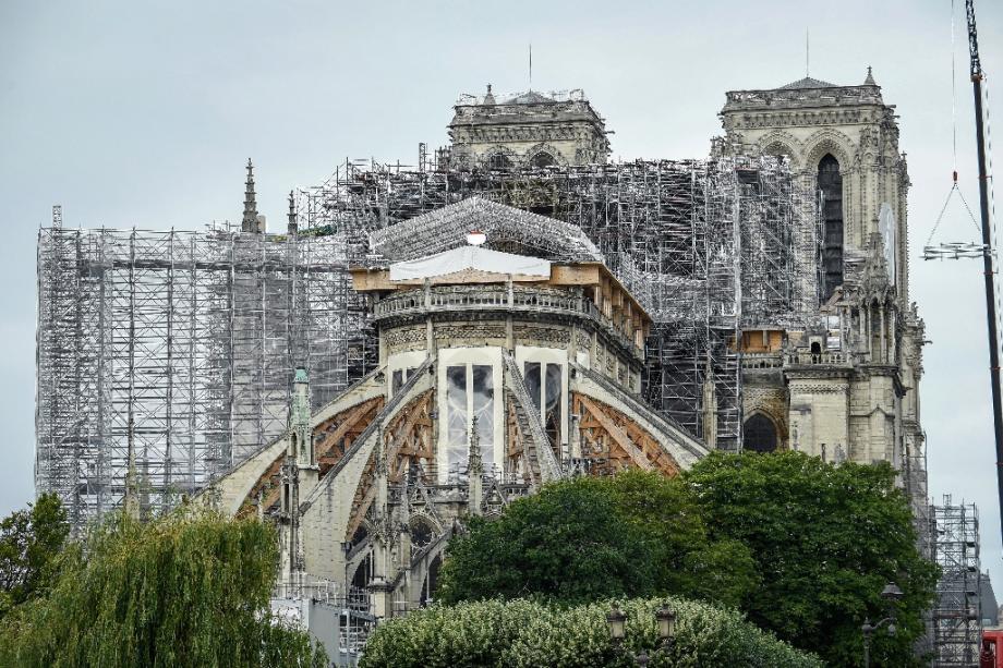 Le chantier de Notre-Dame à Paris le 8 juin 2020