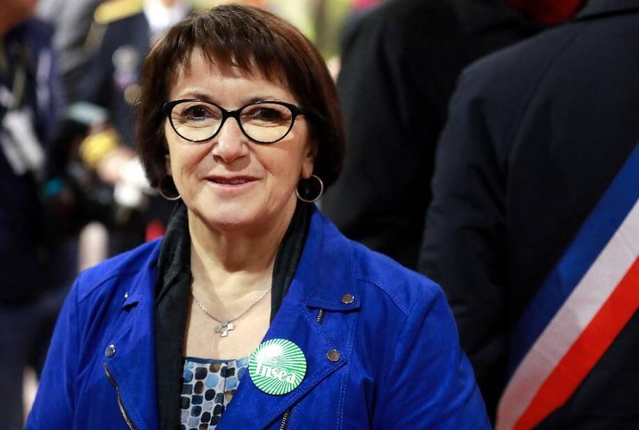 Christiane Lambert présidente de la FNSEA le 22 février 2020 à Paris au salon de l'Agriculture