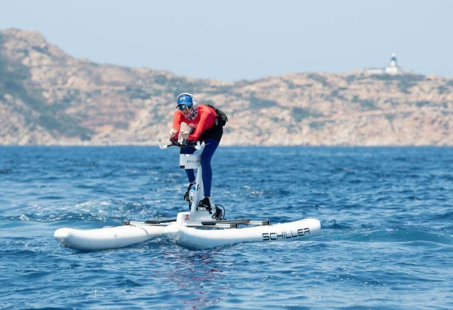 La princesse Charlène, lors de l'un de ses derniers entraînements en Corse.
