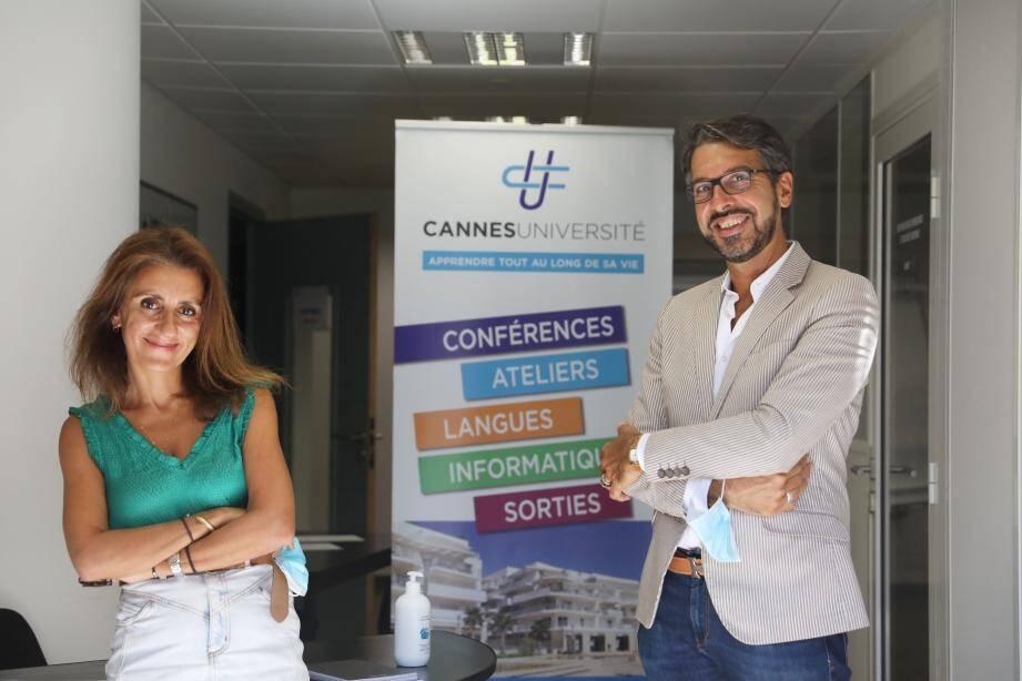 Maryam Rousta-Giroud et Emmanuel Voisin-Moncho, prêts pour l'aventure 2020-2021.