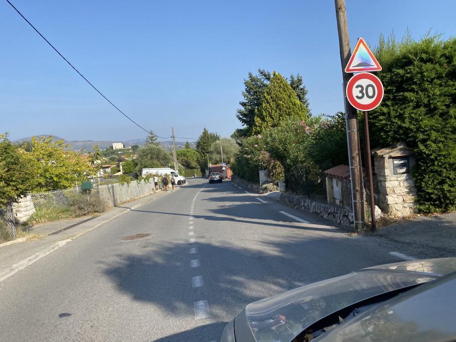 Parmi les axes concernés, le chemin de la Billoire et la route de Vence.