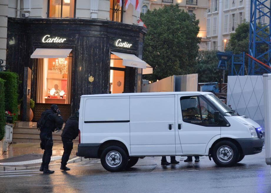 Les quatre braqueurs avaient ciblé la bijouterie Cartier de Monte-Carlo le 27 mars 2017.