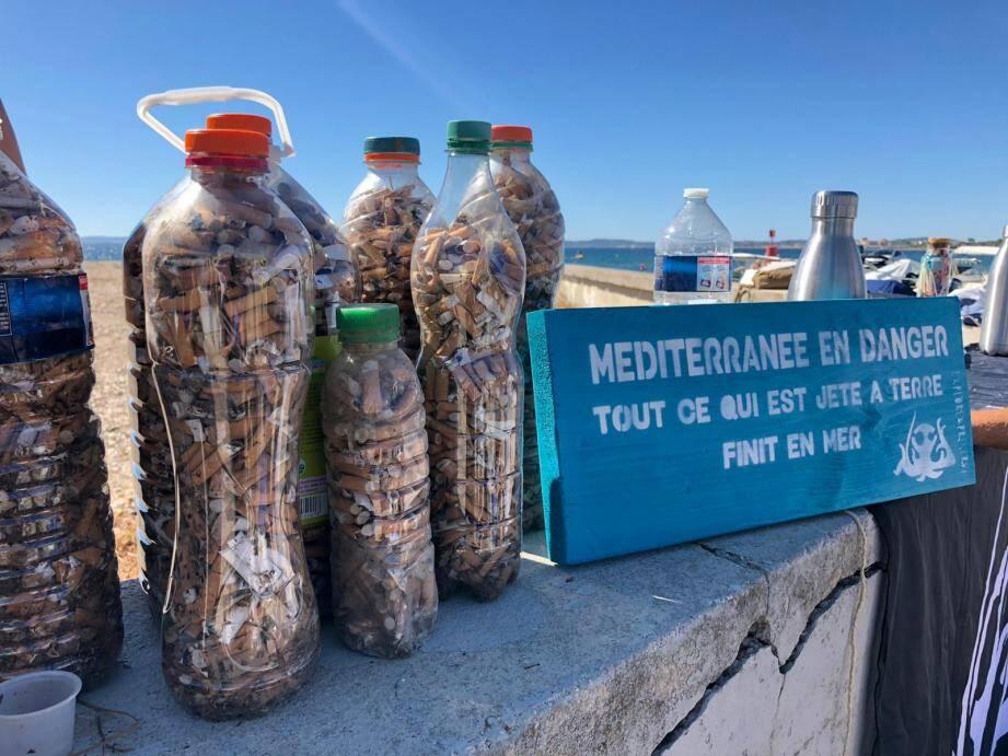 En un an, les bénévoles ont ramassé 50 000 mégots sur le littoral hyérois.