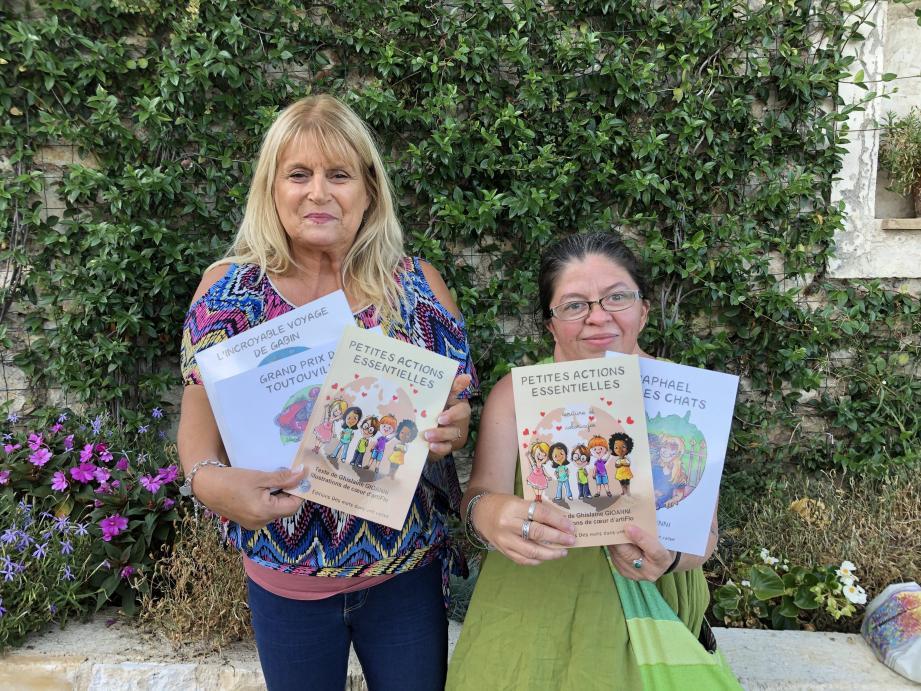 Ghislaine Gioanni et sa fille, Emmanuelle, ont monté leur maison d'édition à la Gaude qui a publié en juillet, les deux tomes de Petites actions essentielles.