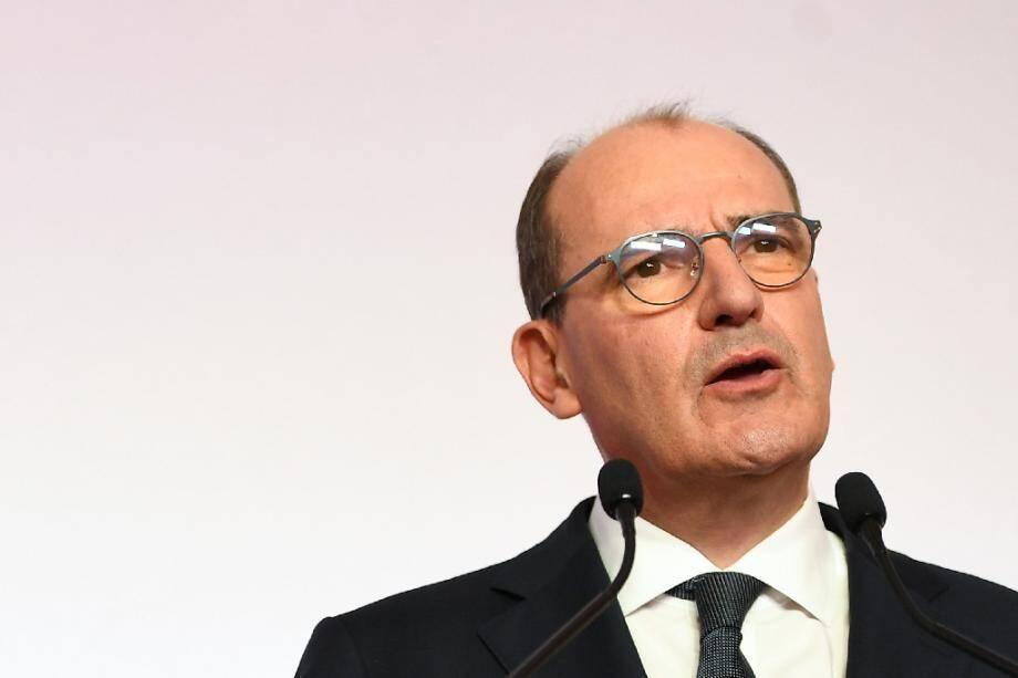 Le Premier ministre Jean Castex lors d'une conférence de presse à Paris le 27 août 2020