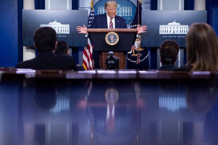 Donald Trump à la Maison Blanche le 27 septembre 2020