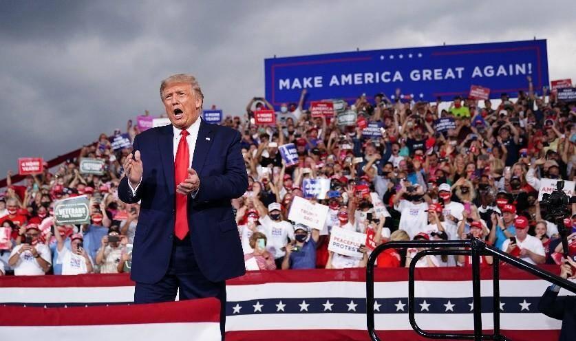 Donald Trump lors d'un rassemblement de campagne le 8 septembre 2020 à Winston-Salem, en Caroline du Nord.