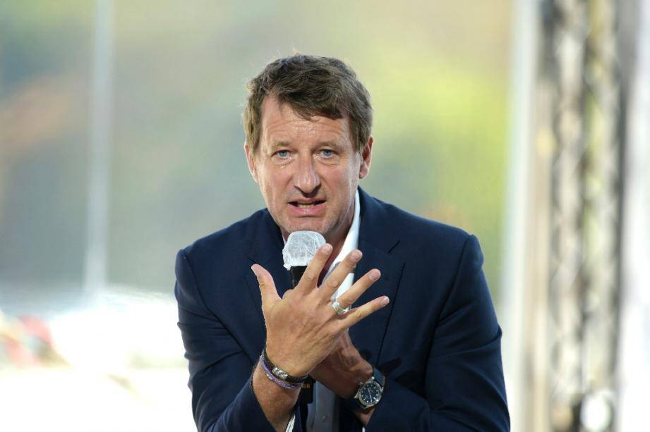 Le député européen écologiste (EELV) Yannick Jadot, lors de son intervention à l'université du Medef, à Paris le 27 août 2020