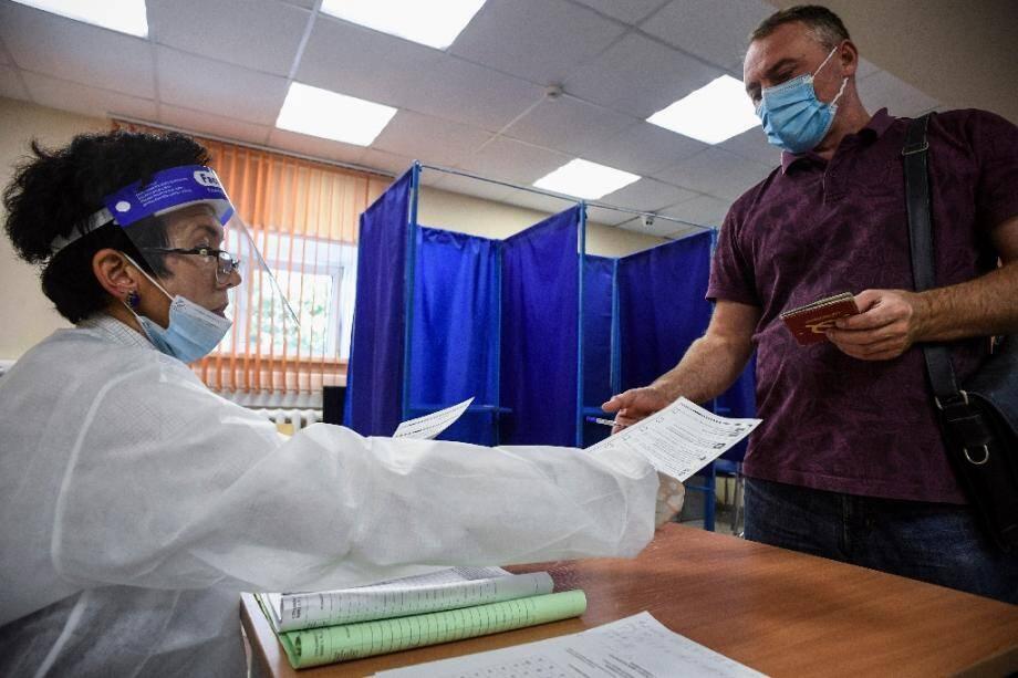 Elections régionales dans un bureau de vote de Novossibirsk le 13 septembre 2020