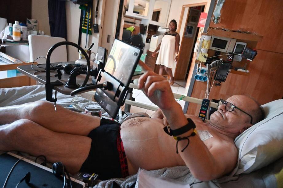 Alain Cocq, atteint d'une maladie orpheline, le 12 août 2020 à Dijon