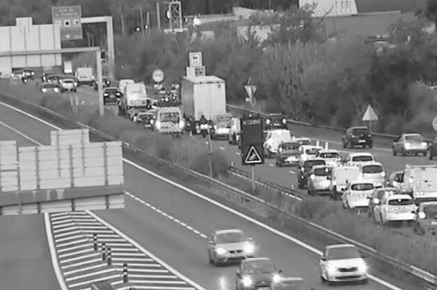 Un bouchon s'est formé à l'approche du lieu de l'accident sur l'A57.