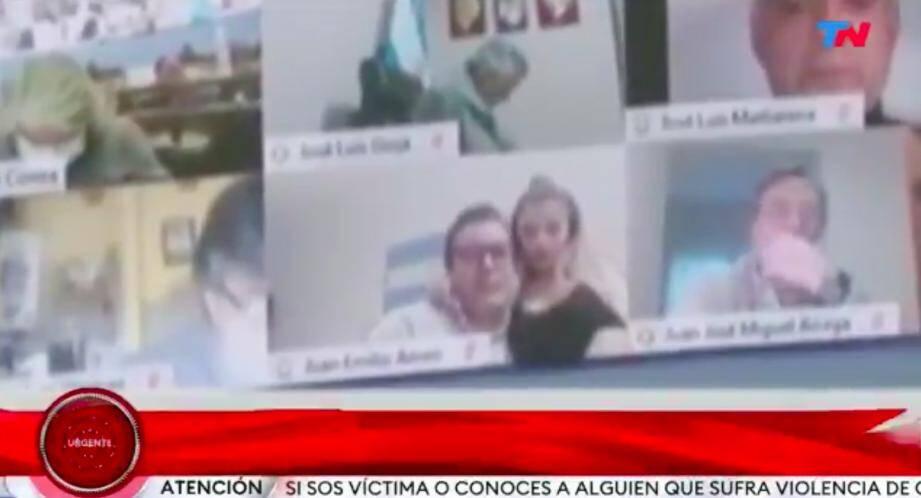 Une capture d'écran de la chaîne Todo noticias.