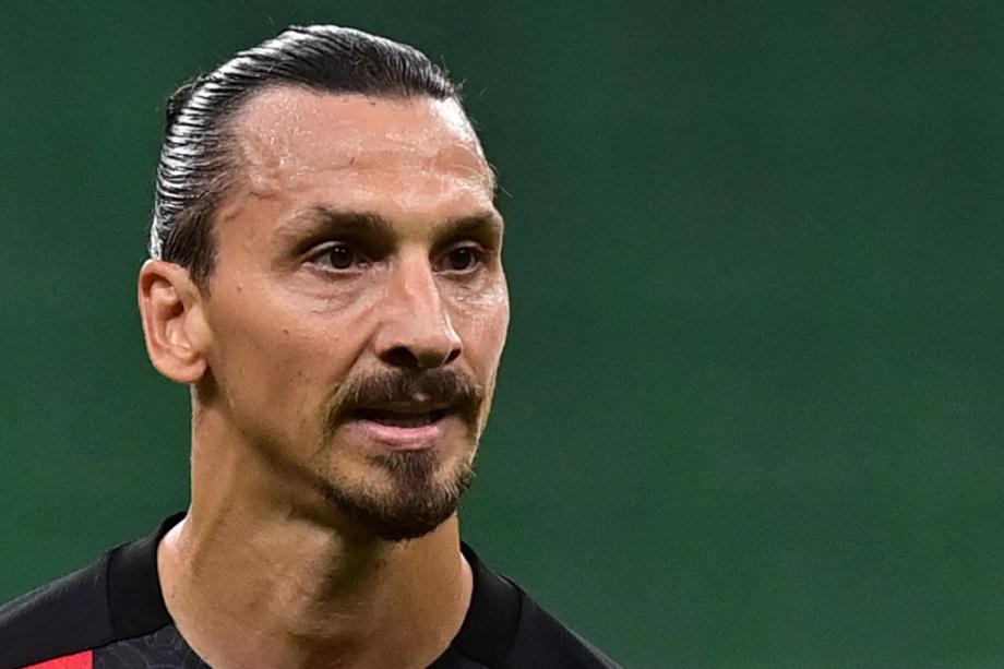 Le grand attaquant suédois de l'AC Milan Zlatan Ibrahimovic, le 21 septembre 2020 à San Siro