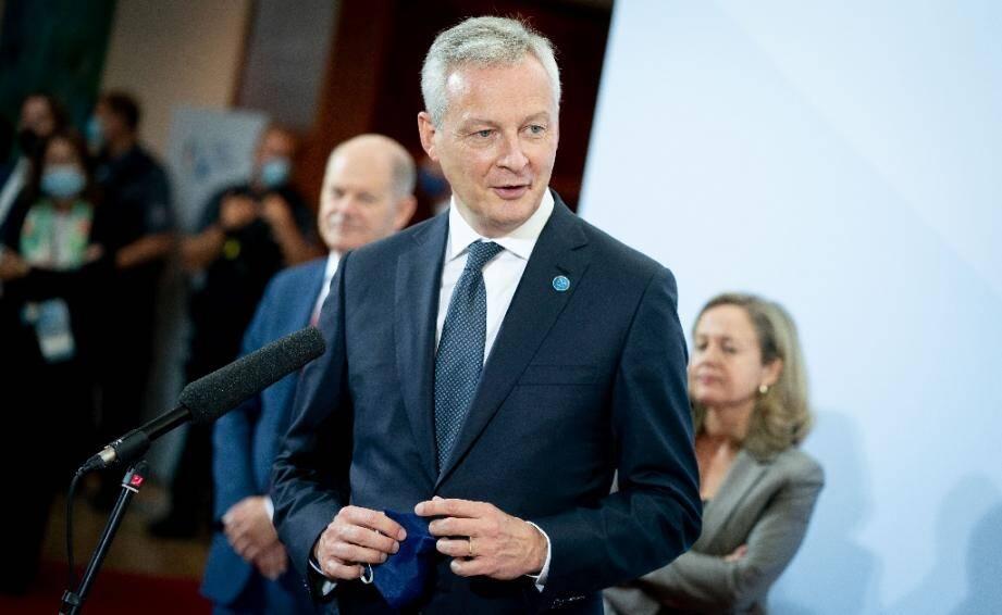 Le ministre de l'Economie Bruno Le Maire à Berlin, le 11 septembre 2020, à l'occasion d'une réunion informelle des ministres européens des Finances