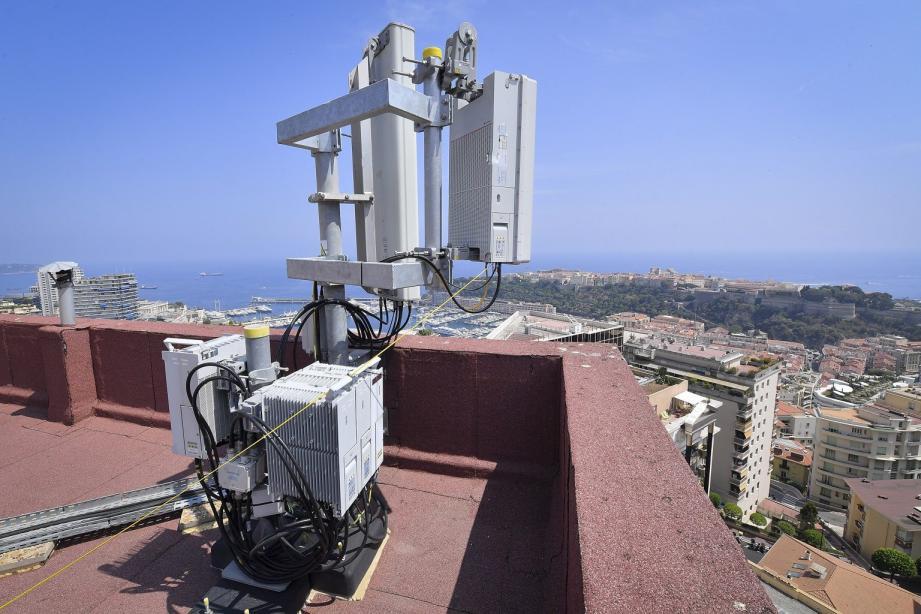 Une antenne 5G à Monaco.