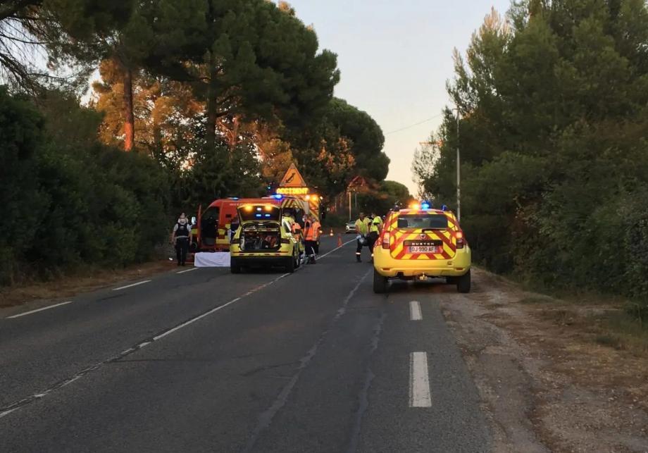 Un des deux accidents mortels du 4 septembre, avenue Maréchal-Galliéni: un motard du Muy, maître-nageur à Draguignan perd la vie.