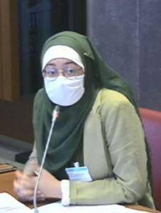 Maryam Pougetoux, la vice-présidente de l'Unef.