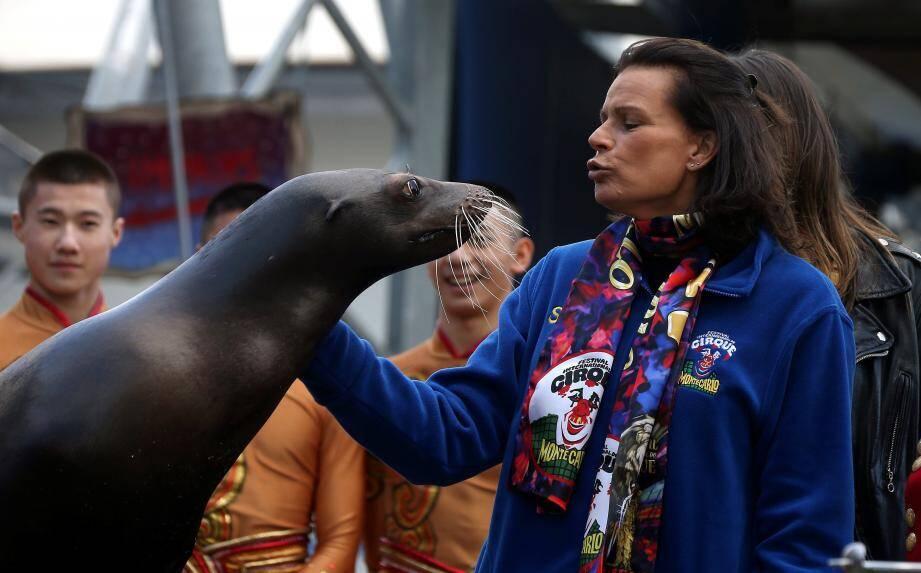 """Stéphanie de Monaco (ici au Festival du cirque de Monte-Carlo 2017): """"Si l'on veut s'occuper de la condition animale, alors il faut s'en occuper complètement. Des animaux domestiques sont très malheureux dans leur foyer, on en voit chaque année qui sont abandonnés au bord de la route."""""""
