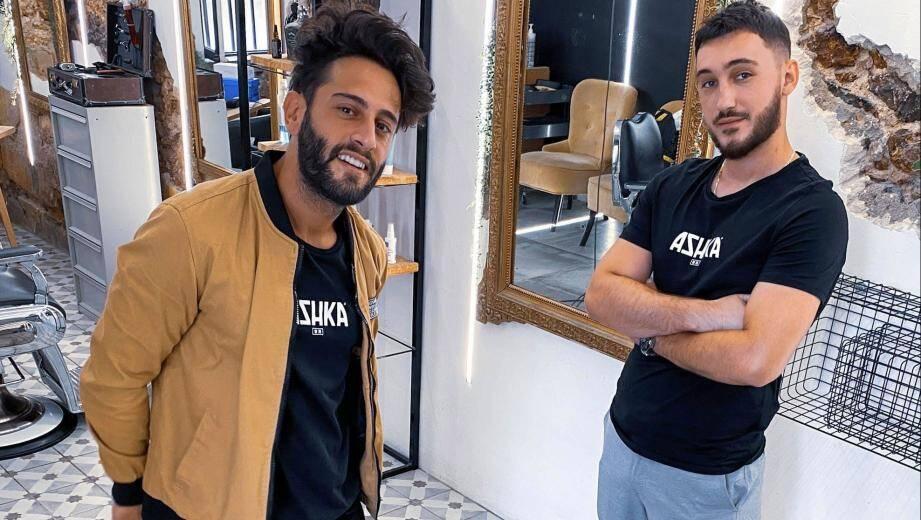 Le manager et créateur de l'enseigne Hairdresser, Yohan Menzoyan, coiffeur à succès, a eu un coup de cœur professionnel pour Blerim Hajrullahu (à droite) et son talent prometteur.