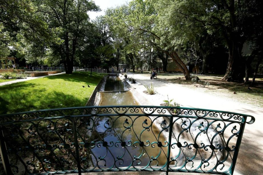 Toulon ferme ses parcs et jardins par précaution enr aison des rafales de vent (ici, le jardin du Pré-Sandin).