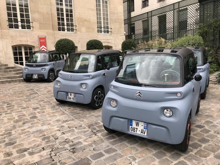 Avec son Ami 100 % Electric, sorte de cube sur roues en plastique fabriqué au Maroc, Citroën s'amuse à casser les codes