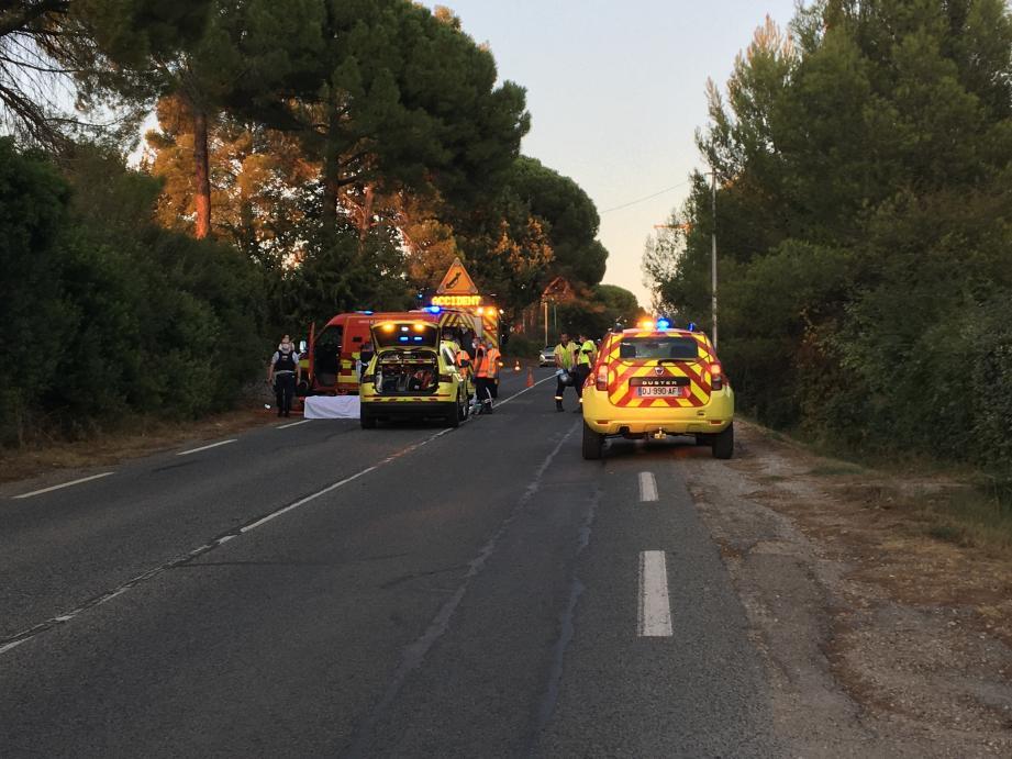 L'accident s'est produit à 19 h 30 avenue Maréchal-Gallieni à Draguignan.