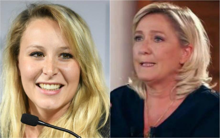 Marion Maréchal et Marine Le Pen.