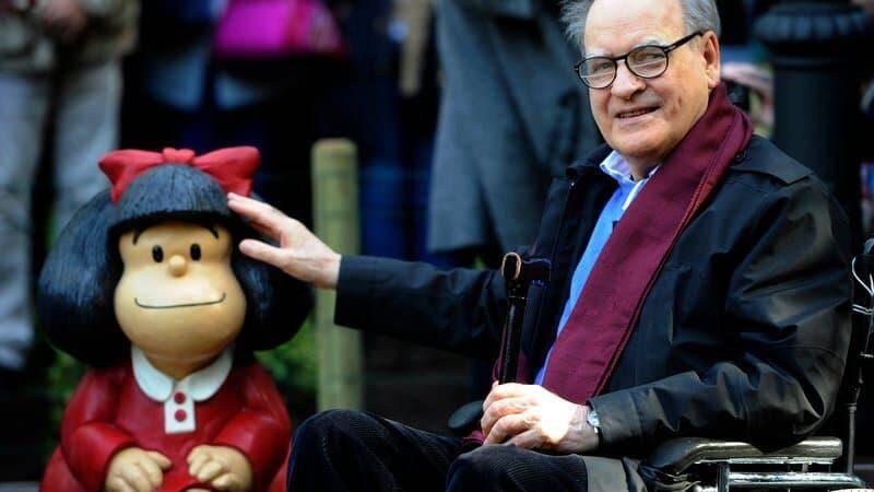Le dessinateur Quino, créateur de Mafalda.