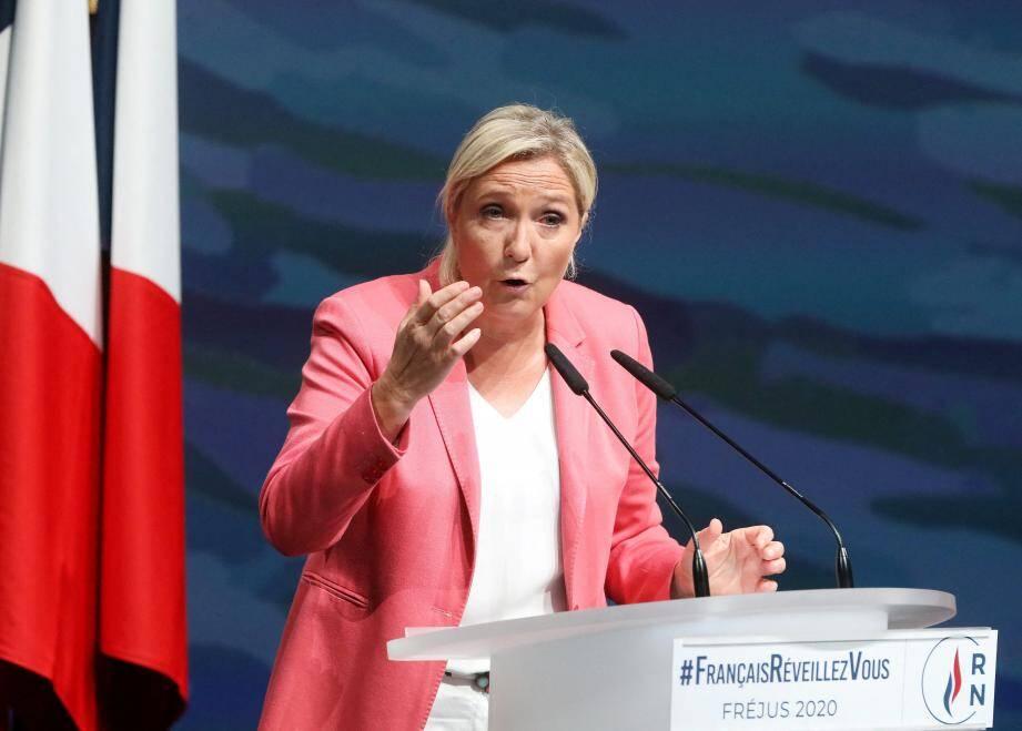 A Fréjus ce dimanche, Marine Le Pen a invité les Français à « se réveiller» et à ne pas considérer l'insécurité comme une fatalité.