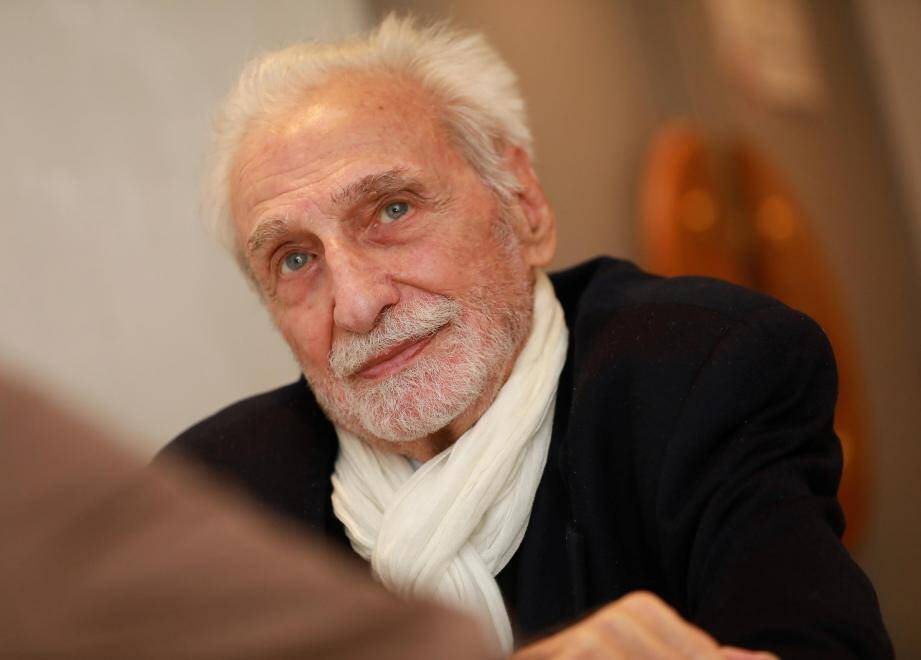 Le réalisateur Paul Vecchiali à Toulon.