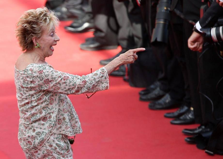 Annie Cordy au 68e Festival de Cannes en 2015.