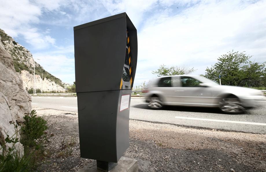 Le radar qui a flashé le plus en France l'an dernier est situé sur la Côte d'Azur.