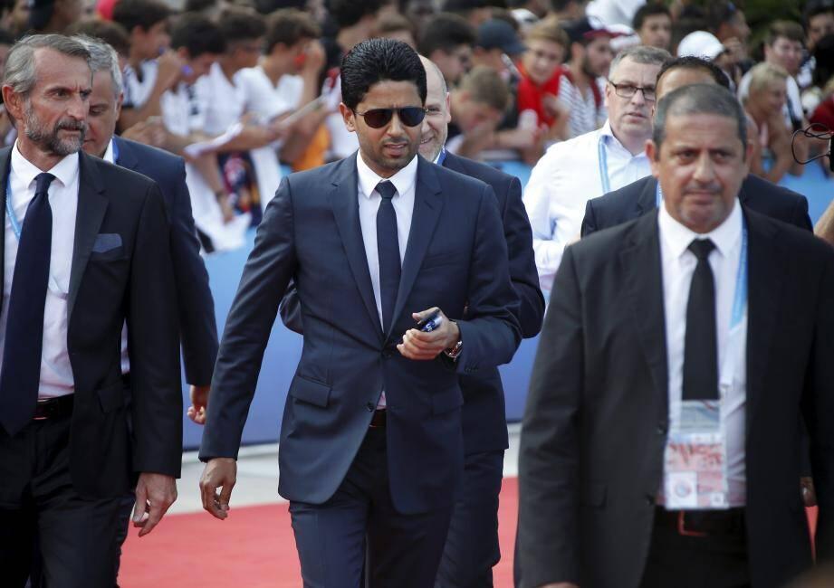 Nasser Al-Khelaïfi (au centre).