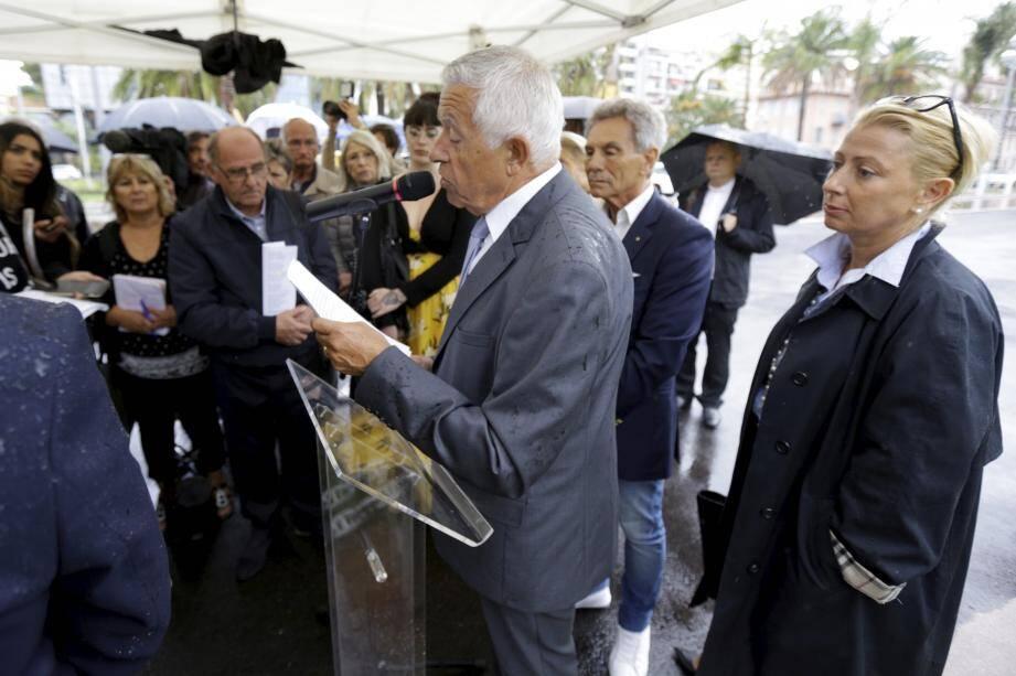 Mathieu Paoli -ici à Nice lors d'une cérémonie d'hommage aux victimes.