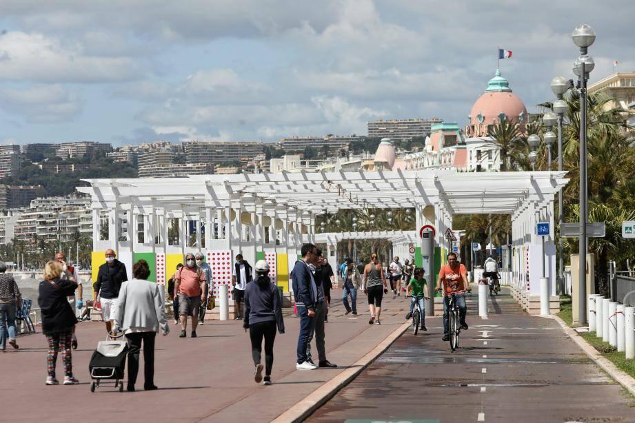 La promenade des Anglais à Nice, quelques jours après le premier déconfinement en mai.