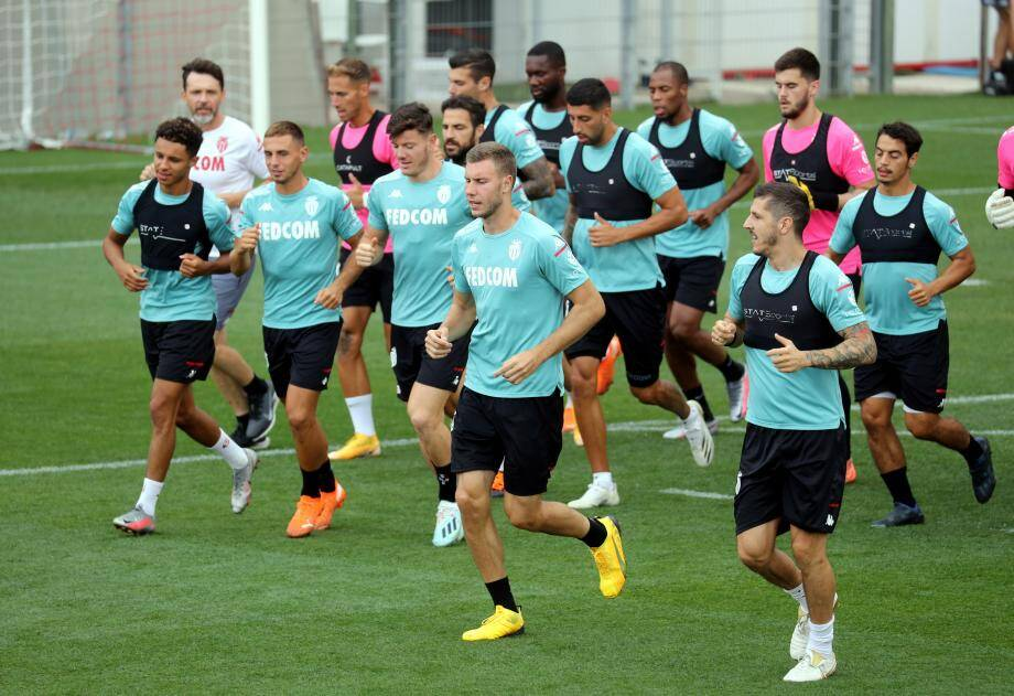 L'AS Monaco à l'entraînement.