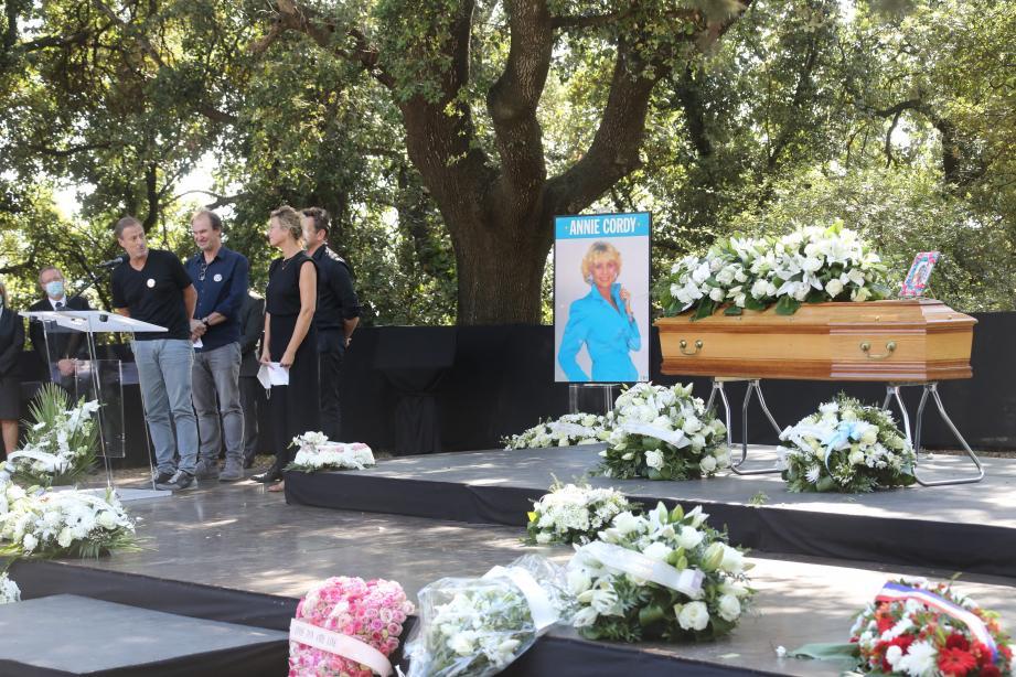 Obsèques d'Annie Cordy le 12 septembre 2020 à Cannes,décédée la semaine dernière à 92 ans