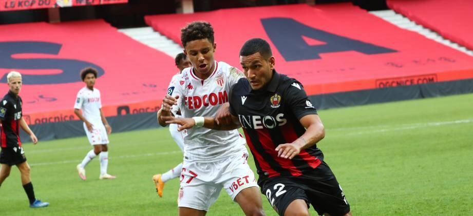 Premier but sous les couleurs du Gym pour Rony Lopes (ici opposé à Diop) face à son ancien club.
