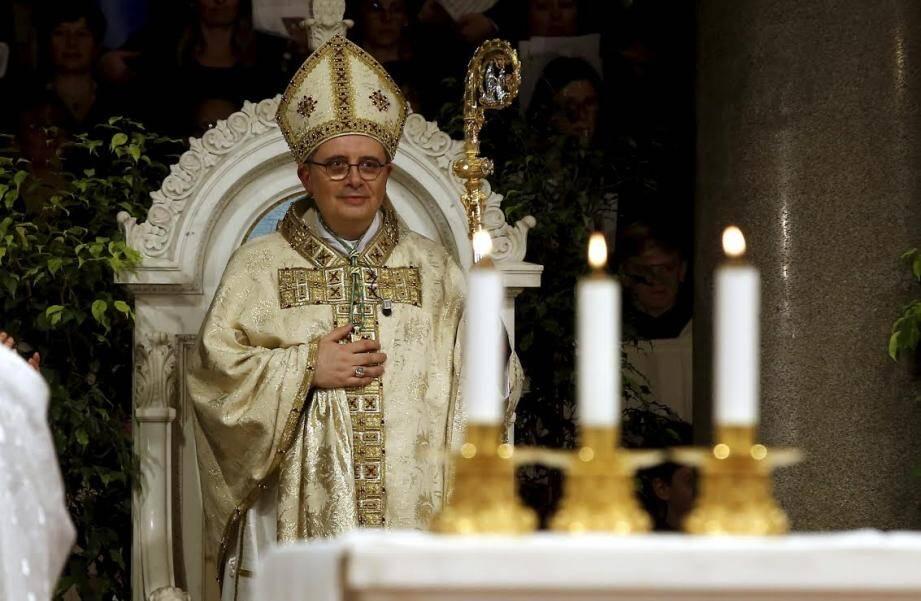 L'archevêque de Monaco, Monseigneur Dominique-Marie David.